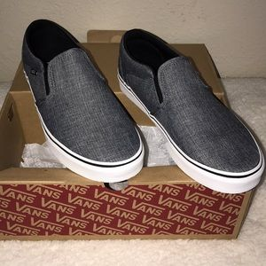 "Vans men's black white rock textile size 10 ""Asher"